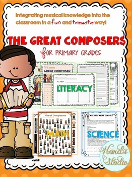 Freebie- The Great Composers Literacy, Math and Science fun