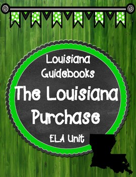 Freebie The Louisiana Purchase Unit ELA Guidebooks Binder Cover