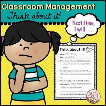 Behavior Sheet: Think about it