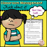 "Behavior Sheet ""Think about it"" (Classroom Management Tool)"