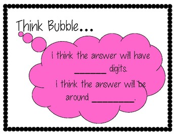 Freebie Think Bubble for Estimating