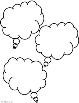 {Freebie!} Think Clouds for whole or small group instruction!