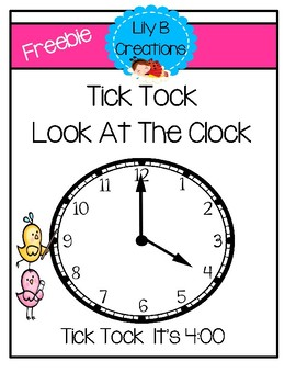 Freebie - Time Flash Cards For Small Group