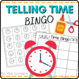 Telling Time to the Hour Half Hour and 15 minutes BINGO
