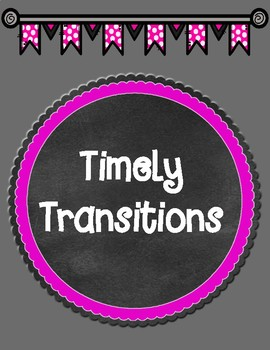 Freebie Timely Transitions Sentence Starters