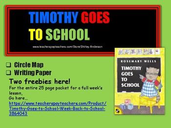 Freebie- Timothy Goes to School