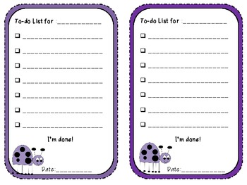 {Freebie} To-do Lists for Students