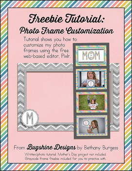 Freebie Tutorial: Pixlr Photo Frame Customization