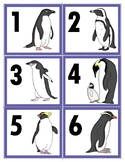 Freebie:  Two Sets of  17 Types of Penguin Number Cards1-20