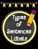 Freebie Types of Sentences Labels
