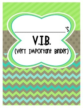 Freebie- VIB Cover Page