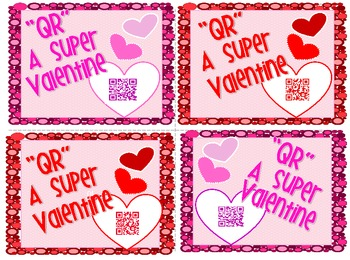 "Freebie! Valentine Card from Teacher ""QR"" Code message"