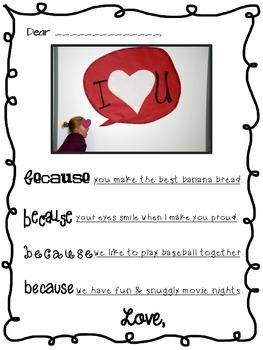 Freebie Valentine Speech Bubble Note