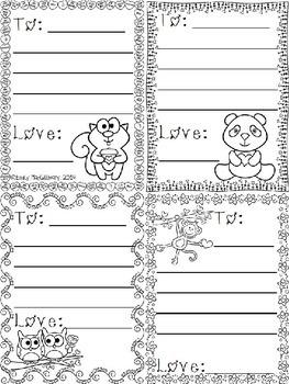 Freebie Valentine Writing Activity