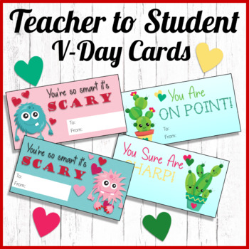 Freebie Valentine's Day Cards (Cactus and Monster)