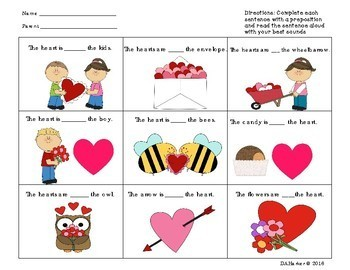 freebie valentine 39 s day preposition worksheet by mrs h speech therapy room. Black Bedroom Furniture Sets. Home Design Ideas