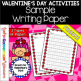 Freebie - Valentine's Day Writing Paper