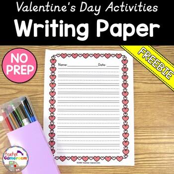 Freebie - Valentine's Day Writing Paper