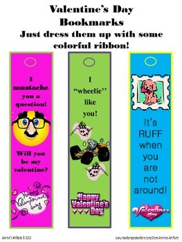 Freebie!!! Valentine's Day Bookmarks