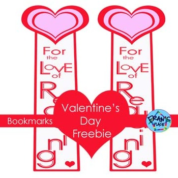 Valentine's Day Bookmarks~A gift that promotes reading! Free