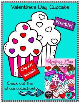 Freebie! Valentine's Day Cupcake -  Clip Art Sample
