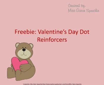 Freebie: Valentine's Day Dot Reinforcers
