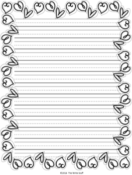 Valentine's Day {Freebie} Writing Paper and Coloring