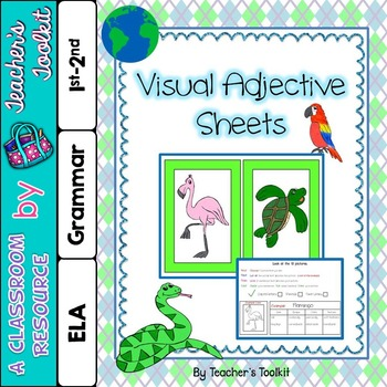 {Freebie} Visual Adjective Cards (Autism)