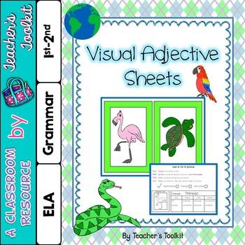 {Freebie} Visual Adjective Cards (Autism)