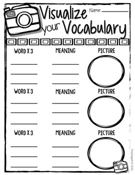 Visualizing Vocabulary {Freebie}