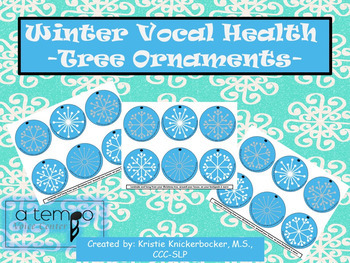 Voice Speech Therapy Vocal Health Snowflake Ornaments Freebie