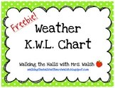 Freebie! Weather K.W.L. Chart