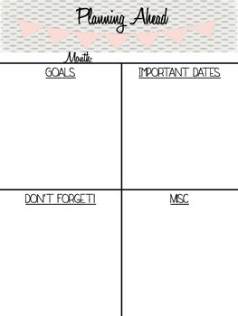 {Freebie} Weekly & Monthly Organizers