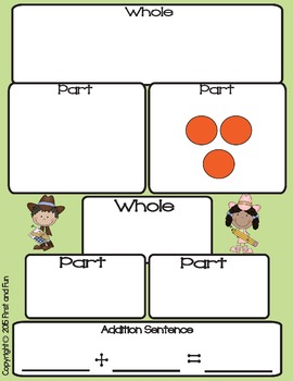 Freebie Western Part Part Whole Task Cards Mats n Worksheets Common Core n MAFS