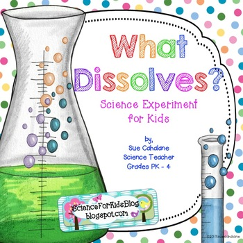 Freebie! What Dissolves? Science Experiment for Kids