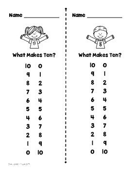 Making Ten/What Makes Ten? {Freebie}
