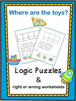 Logic Puzzles  Where are the toys?