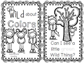 "Freebie! Wild Things- Literacy Mini Unit for ""Where The Wild Things Are"""