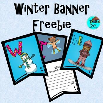 Freebie Winter Classroom Banner