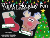 Freebie! Winter Crafts for PreK and K