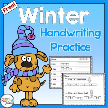 {Freebie!} Winter Handwriting and Sight Words Practice