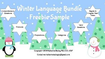 Freebie - Winter Language Bundle Sample