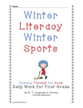 Freebie: Winter Literacy Winter Sports for First Grade