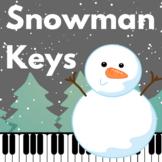 Freebie! Winter Music Game: Snowman Keys