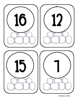 Freebie- Winter Odd and Even Numbers Center
