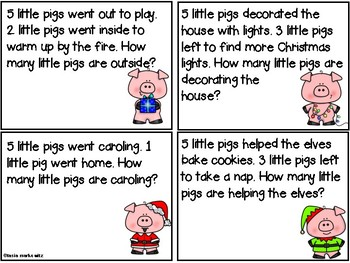 Gift # 2 Winter Pig Story Problems & Measurement