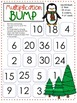 {Freebie} Winter Themed Multiplication BUMP Boards~ Color and BW