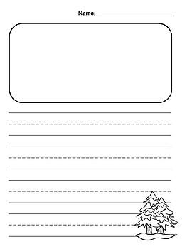 Freebie Winter Writing Paper