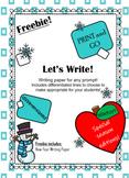 Freebie!! Winter Writing Paper