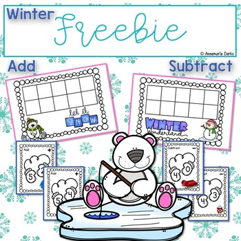 Freebie   ~Winter Ten Frames~  Add and Subtract~